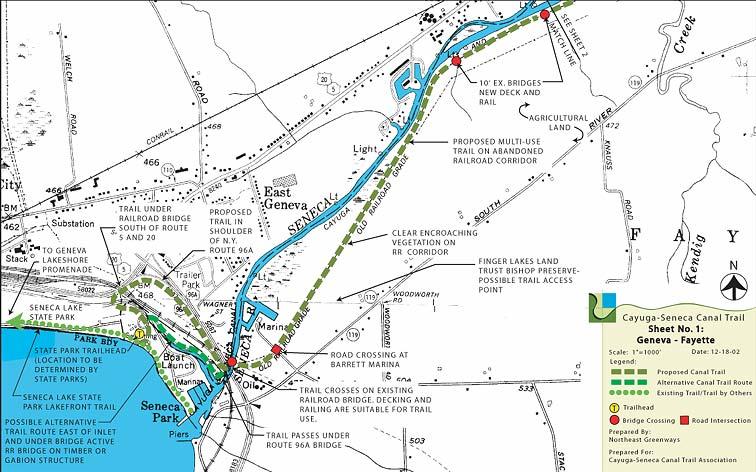 Cayuga Seneca Canal Trail Association Geneva Fayette Map: Geneva State Park Map At Infoasik.co